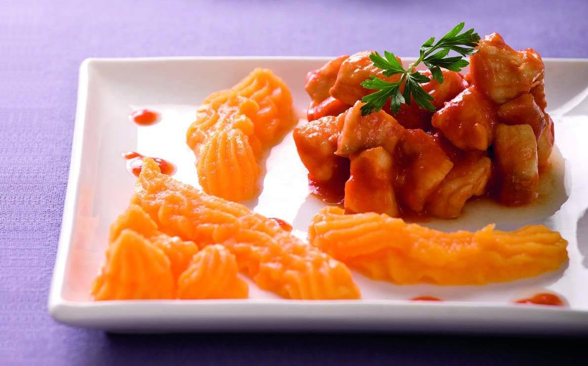 Gallinella Pesce Coccio Al Pomodoro Con Purè Di Zucca
